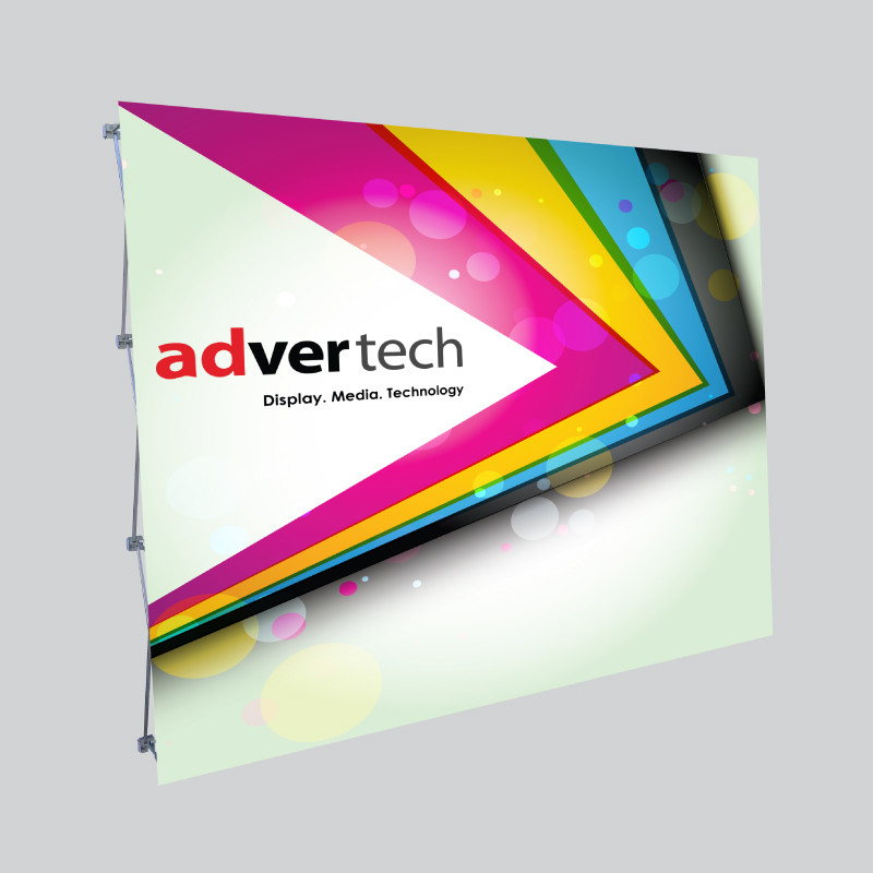 16mm-Deluxe-Straight-Banner-Wall | AdverTech Digital Advertising & Media Displays